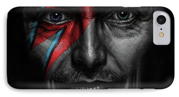 David Bowie IPhone Case by Andre Koekemoer