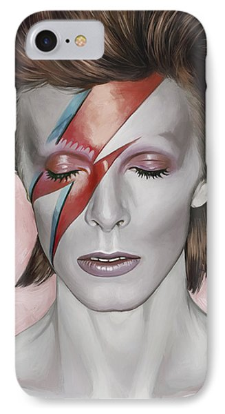 David Bowie Artwork 1 Phone Case by Sheraz A