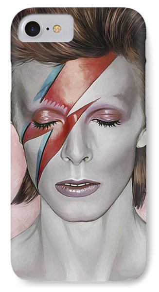 David Bowie Artwork 1 IPhone Case by Sheraz A