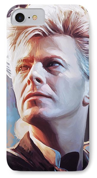 David Bowie Artwork 2 IPhone Case by Sheraz A