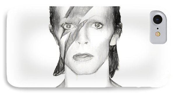David Bowie Charcoal  IPhone Case