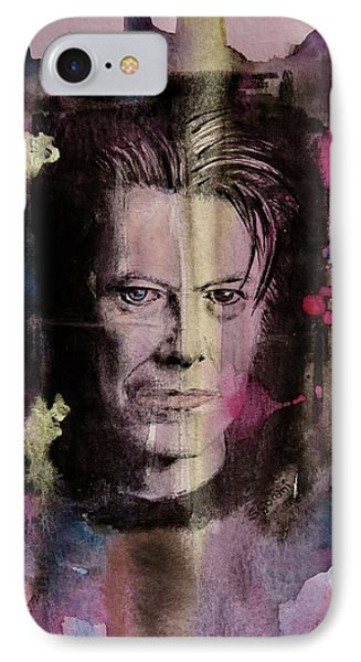 David Bowie IPhone Case by Geni Gorani