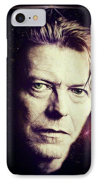 IPhone Case featuring the digital art David Bowie by John Haldane
