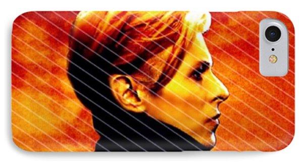 David Bowie IPhone Case by Laura Michelle Corbin