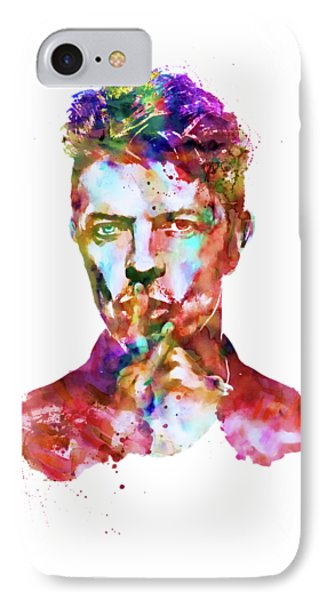 David Bowie  IPhone Case by Marian Voicu