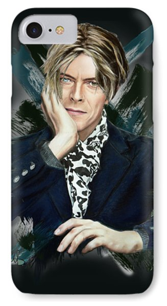 David Bowie IPhone Case by Melanie D