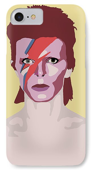 David Bowie IPhone 7 Case by Nicole Wilson