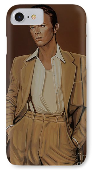 David Bowie Four Ever IPhone Case by Paul Meijering