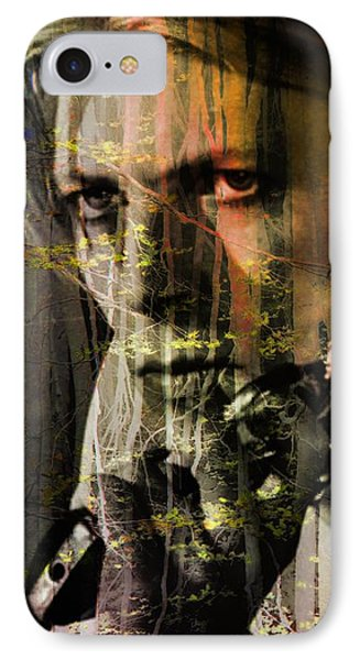 David Bowie / The Man Who Fell To Earth  IPhone Case by Elizabeth McTaggart