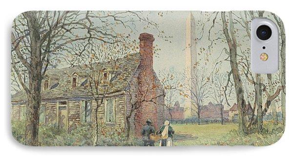 David Burns's Cottage And The Washington Monument, Washington Dc, 1892  IPhone 7 Case