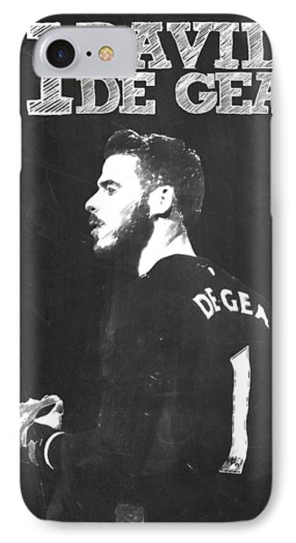 David De Gea IPhone 7 Case by Semih Yurdabak