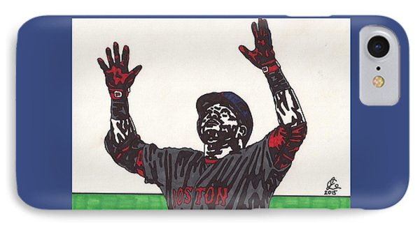 David Ortiz 2 Homer 498 IPhone Case by Jeremiah Colley