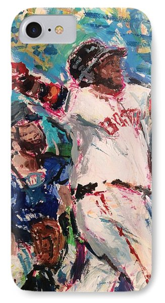 David Ortiz, Big Papi, Boston Red Sox  IPhone Case by Russ Potak