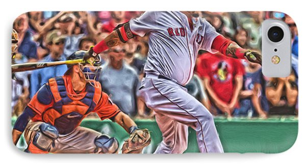 David Ortiz Boston Red Sox Oil Art 1 IPhone Case by Joe Hamilton