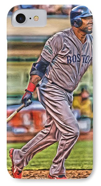 David Ortiz Boston Red Sox Oil Art 2 IPhone Case