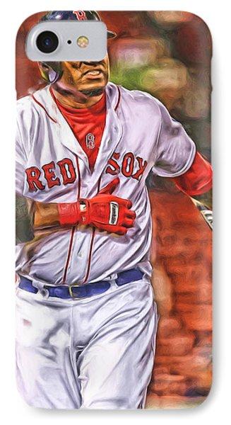 David Ortiz Boston Red Sox Oil Art 3 IPhone Case