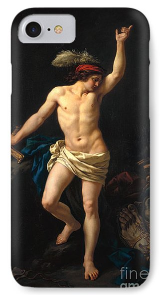 David Victorious Phone Case by Jean Jacques II Lagrenee