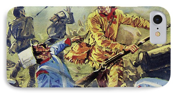 Davy Crockett Eventually Fell To The Ceaseless Mexican Attacks IPhone Case by Luis Arcas Brauner
