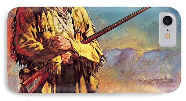 Davy Crockett  Hero Of The Alamo IPhone Case by James Edwin McConnell
