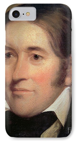 Davy Crockett  IPhone Case by John Neagle