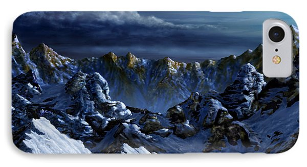 IPhone Case featuring the digital art Dawn At Eagle's Peak by Curtiss Shaffer
