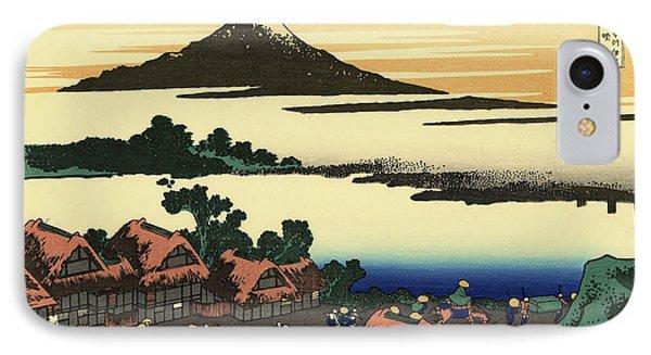 Dawn At Isawa IPhone Case by Katsushika Hokusai