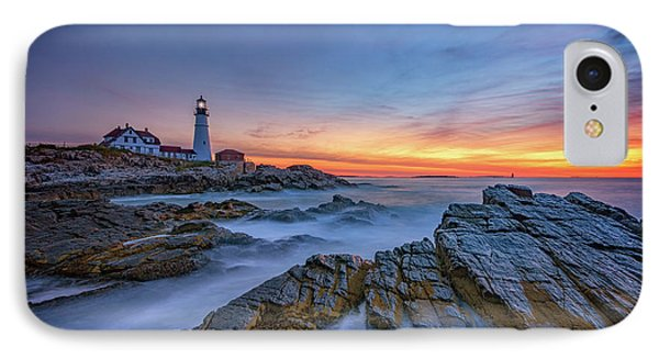 Dawn At Portland Head Lighthouse IPhone Case by Rick Berk
