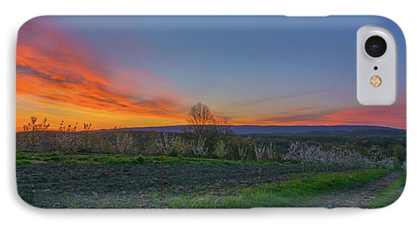 Dawn At Roe Orchards I IPhone Case by Angelo Marcialis