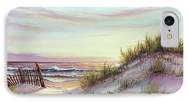 Dawn At The Beach IPhone Case by Joe Mandrick