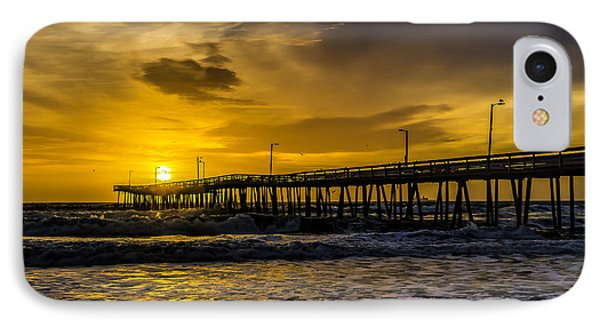 Dawn At The Virginia Pier IPhone Case