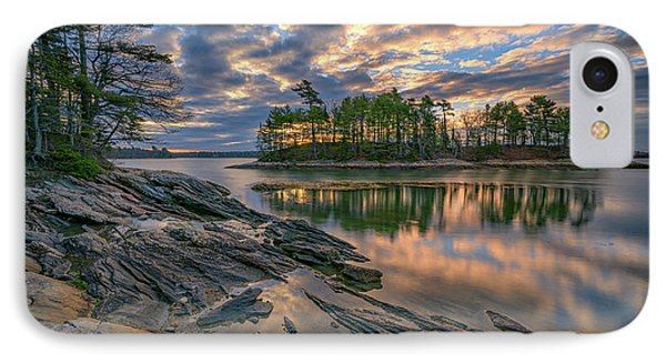 Dawn At Wolfe's Neck Woods IPhone Case by Rick Berk
