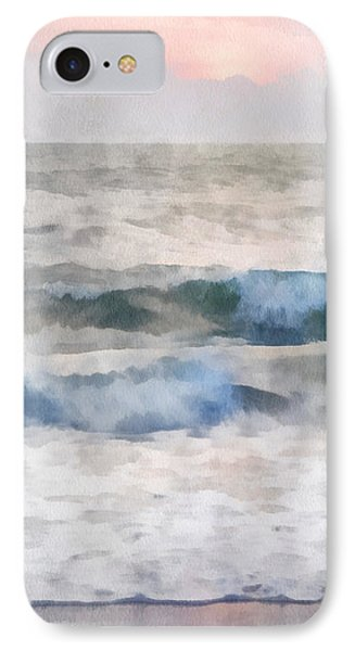 IPhone Case featuring the digital art Dawn Beach by Francesa Miller