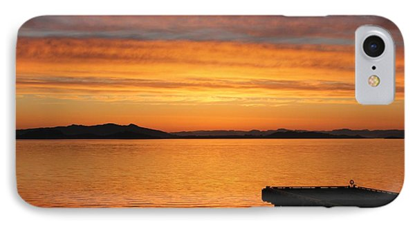 Dawn In The Sky At Dusavik IPhone Case by Charles Morrison