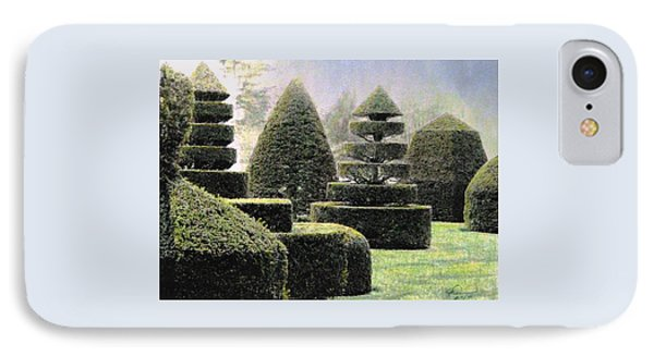 Dawn In A Topiary Garden   Phone Case by Angela Davies