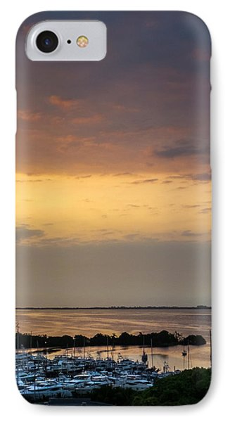Dawn On The Bay IPhone Case by Frank Mari