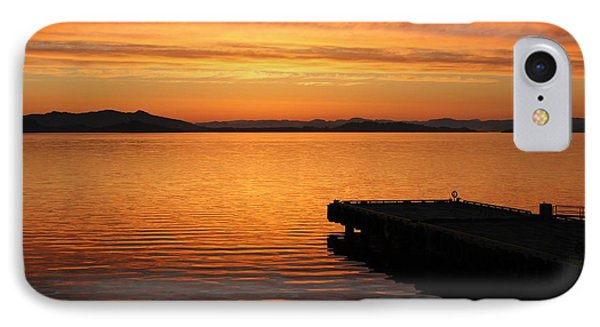 Dawn On The Water At Dusavik IPhone Case by Charles Morrison