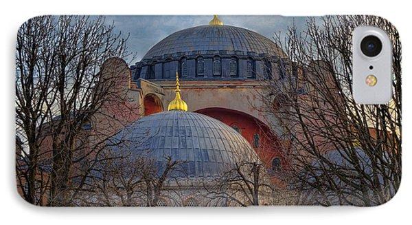 Dawn Over Hagia Sophia Phone Case by Joan Carroll
