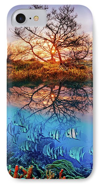 IPhone Case featuring the photograph Dawn Over The Reef by Debra and Dave Vanderlaan