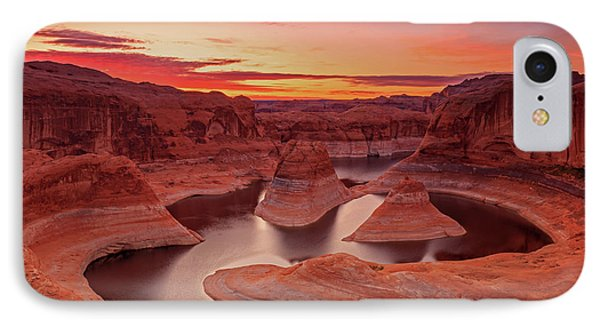 Dawn Sky Above Reflection Canyon. IPhone 7 Case by Johnny Adolphson