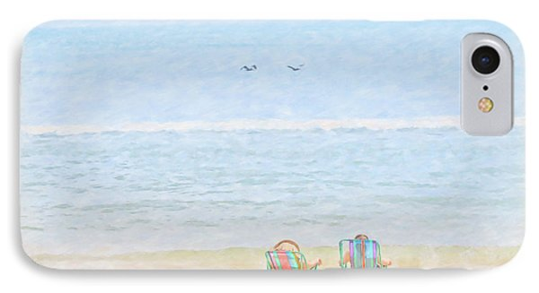 IPhone Case featuring the digital art Day At The Beach Sun And Sand by Randy Steele