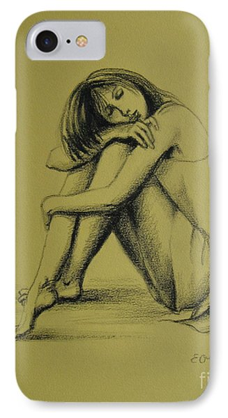 IPhone Case featuring the drawing Day Dreaming by Elena Oleniuc