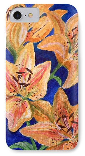 IPhone Case featuring the painting Day Lilies by Laura Aceto
