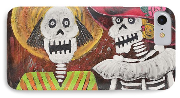Day Of The Dead Couple Phone Case by Sonia Flores Ruiz