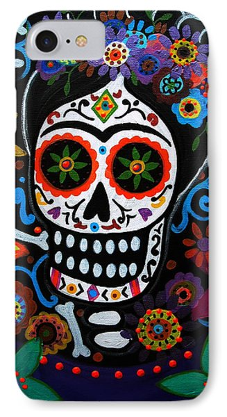 Day Of The Dead Frida Kahlo Painting Phone Case by Pristine Cartera Turkus
