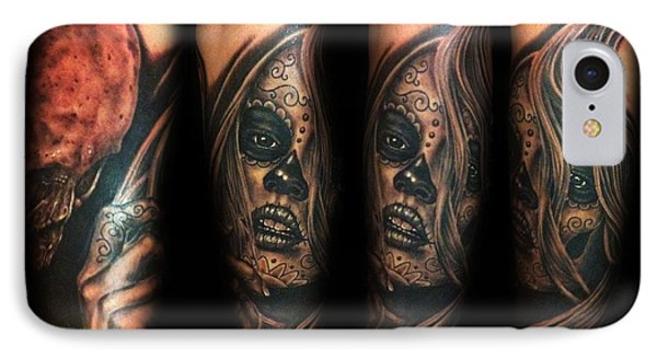Day Of The Dead Girl IPhone Case by Joe Riley