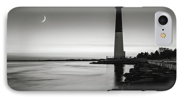 IPhone Case featuring the photograph Daybreak At Barnegat, Black And White by Eduard Moldoveanu