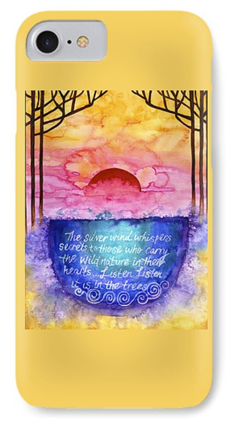 Daybreak Over The Cauldron Of Inspiration IPhone Case by Cat Athena Louise