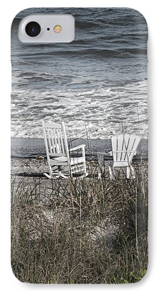 Daydreaming By The Sea  IPhone Case by Betsy Knapp