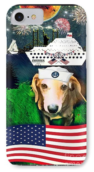 Daydreaming Dachshund Doggie Gianni Comes Home IPhone Case by PrettTea Art Gallery By Teaya Simms