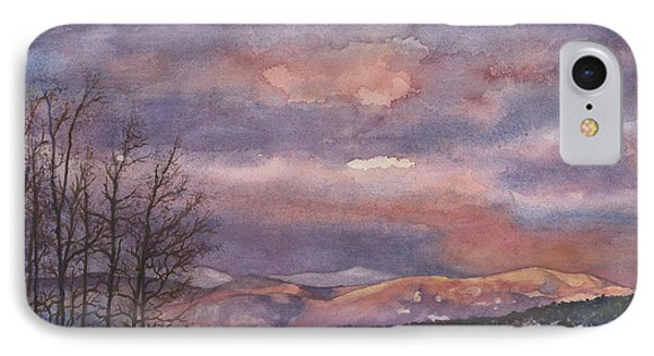 IPhone Case featuring the painting Daylight's Last Blush by Anne Gifford
